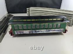 Hawthorne Village Thomas Kinkade Christmas Express Train Set 3 Pcs & (10) Pistes