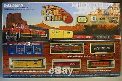 Ho Bachmann Bnsf Rail En Chef Fret Set 706 Boîte Train De Voiture Moteur De Piste Ez 00706