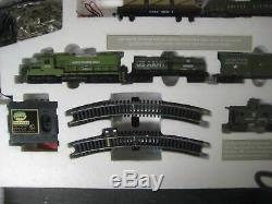 Ho Trains Us Army Gp20 American Classic Train Set 1028 Us1 Avec 5 Voitures Track & Pa