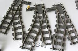 Incomplete Lego City Cargo Train 4512 Rails De La Voie Du Train 9v Et Contrôleur