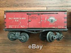 Ives Train Vintage D'avant-guerre Et N ° 64385 65 66 67 Piste, Pont, Bois De Construction De Voitures