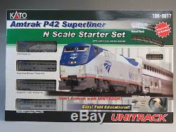 Kato Chars Amtrak P42 Superliner Starter Set Train Piste Ovale Voiture 106-0017 Nouveau