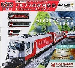 Kato Train Model 10-006 N Gauge Alps Glacier Express Grescher Set De Démarrage Nouveau