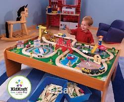 Kidkraft 100 Pièces Table En Bois Train Thomas & Friends Voie Ferrée Enfants