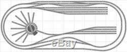 La Mise En Page 030 Bachmann Ho Ez Track (ns) Nickel Silver 5' X 12' Nouveau Train