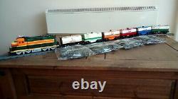 Lego 10133 Bnsf + 6 Camions-citernes Personnalisés + 8 Voies Droites + 4 Sacs De Piste Flexi
