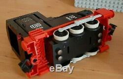 Lego 12v 7722 Vapeur Cargo Train 12 Volt Ferroviaire Gris Voie Eisenbahn, Année 1985