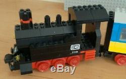 Lego 4.5v 7710 Push-long Passenger Train À Vapeur 4,5 Volt Voie Ferrée Eisenbahn