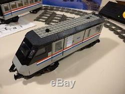 Lego 4558 Metroliner Train Avec La Boîte Track & 4548 9v Contrôle Set Incomplet (10001)