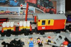 Lego 7722 Train Ensemble Presque Complet W Legos Supplémentaires, Voitures, Personnes, Piste, Boîte