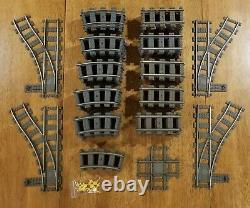 Lego 9v Train Bundle Piste 40 Droite, 44 Courbe, 4 Aiguillage, 1 Cross