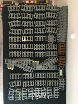 Lego City 265 X Courbe, Droite, Switch, Cross Track Train Rails Nouveau Lot En Vrac