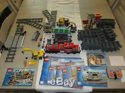 Lego City 3677 Red Cargo Train 7936 Passage À Niveau Du Terrain 60238 7499 Pistes Xtra