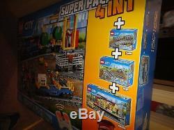 Lego City 66493 Remote Control Cargo Train, Station, Pistes Et Fonctions Électriques
