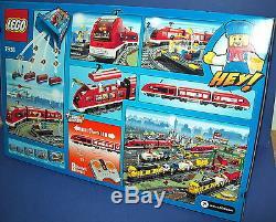 Lego City 7938 Train De Passagers Avec Des Pistes Et Moteur 3 Mini-figurines À La Retraite Nisb