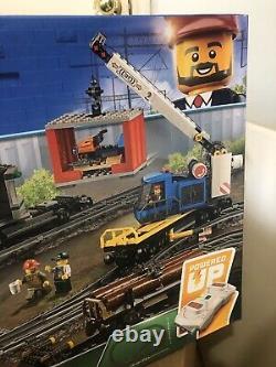 Lego City Cargo Train 60198 Remote Control Train Construire Avec Pistes Nouveau