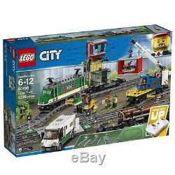 Lego City Cargo Train 60198 Remote Control Train Tracks Construire Avec Nib