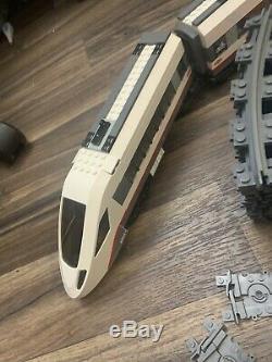 Lego City Train Passagers À Grande Vitesse Réglée 60051 Piste Et Les Voitures
