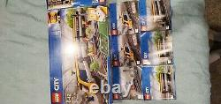 Lego City Train Passenger Rail 60197 X2 Avec Bluetooth Rc Lots De Voies Supplémentaires