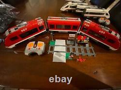 Lego City Trains De Voyageurs 7938 60051 Deux Ensembles De Pistes Figurines