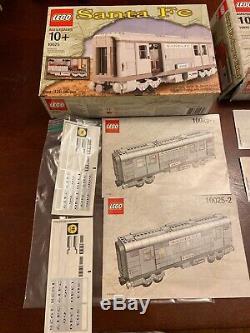 Lego Santa Fe Super Chief Moteur Train Énorme Voitures Passagers Lot Propre Piste