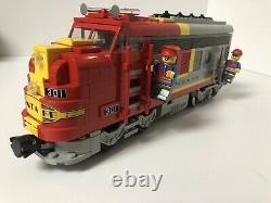 Lego Santa Fe Super Chief Train, Mail + Voitures D'observation, Voie, Moteur 9v 10020