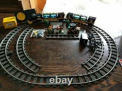 Lego System 9v Train # 4459 Cargo De La Voie Ferrée Supplémentaire Et Arbres