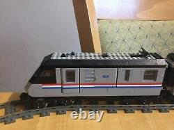 Lego Train 9v 4558 Metroliner Utilisé Ensemble De Train. Avec Piste Supplémentaire Et Alimentation Électrique