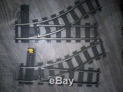 Lego Train Piste 9v Switching 2 Gauche & 2 Droit 36 Courbe Et 12 Rail Droit