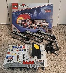 Lego Trains 9v Metroliner (4558) 100% Complet Avec Boîte Avec Boîte Avec Piste