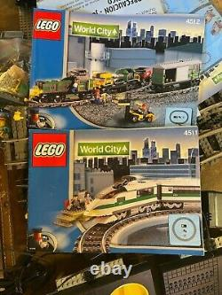 Lego World City 4511 & 4512 Avec Pistes, Puissance, Trains, Instructions, Tous Les Accès