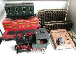 Lgb 2010d 0-4-0 Train De Locomotive Réglé Avec 18 Voies Et Transformateur Testé