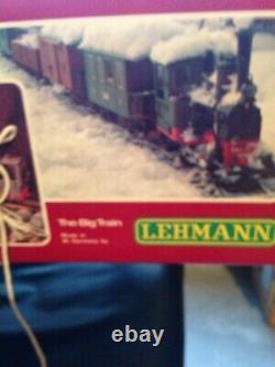Lgb G Scale #20301 Train Set New In Box + Car + 2 Ensembles De Piste Supplémentaires Tous Les Nouveaux