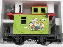 Lgb Toy Train 92786 Arachides Starter Set 0-4-0 Loco, Gondole, Caboose Nouveau Dans La Boîte