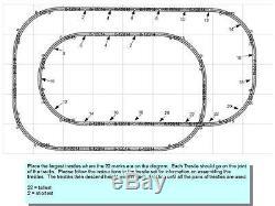 Lionel Fastrack Du Super V Track Pack Trains Agencement 5' X 9' O Gauge Chevalet Nouveau