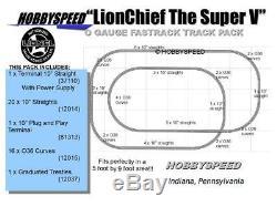 Lionel Fastrack Lionchief Super V Track Pack Schéma 5' X 9' O Train À Voie New