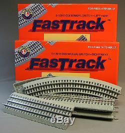 Lionel Fastrack Lot Track Suremballage Décès Loop Interrupteur Train Rapide 6-12031 Nb