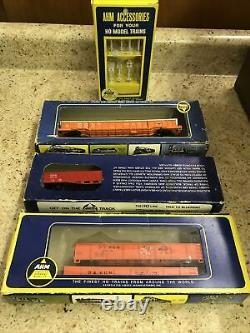 Lionel Ho Gauge Train Set + Extras, 3 Moteurs, 12 Voitures, 2 Transformateurs, Piste