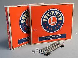 Lionel O Jauge De Luxe Train Track Pack 3 Courbe Métal Fixé Rail Disposition 6-22969 New