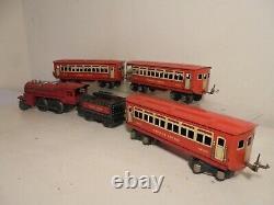 Lionel O Train-set D'après-guerre (1681e) C/w 3 Voitures De Tourisme (pas De Voie)boxes Pauvres