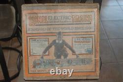 Lionel Prewar Electric Train Set Avec Transformateur De Piste De Boîte