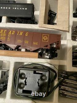 Lionel Rock Island Express 027 Groupe De Trains De Marchandises Locomotives + Voie