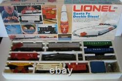 Lionel Train Santa Fe Double Diesel 1974 O Échelle Ensemble # 6-1489 Pistes De Travail - Boîte