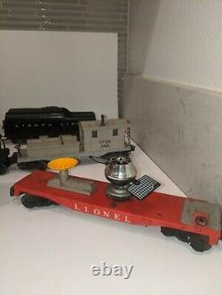 Lionel Train Set Avec Engine #224 Avec Chariots Et Boîtier
