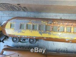 Lionel Trains Passagers Set Up 752e 753 754 Af Transformateur 1292 Tracks Box Vtg