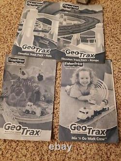 Lot 120 Pc Fisher Price Geo Trax Geotrax Set MIX Train Tracks Station Bridge