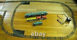 Marx Baltimore & Ohio Diesel Train Réglé Avec 2 Commutateurs, Porte De Passage, Voie