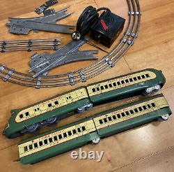 Marx M10000 Electric Union Pacific Cream Et Green Train Set. Peu De Pistes Manquantes
