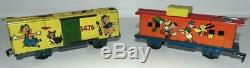 Mickey Meteor Disney 1950 Train Set + Bell + Rail + Travaux + 5 Version De Voiture