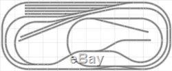 Mise En Page # 032 Bachmann Ho Ez Track (ns) Nickel Silver 5' X 12' Nouveau Train